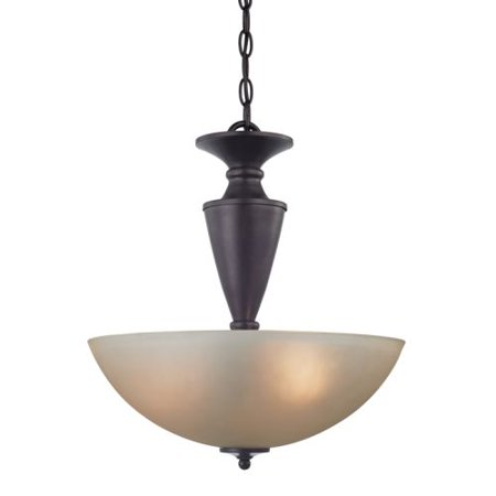 Cornerstone Lighting 1602PL Greenville 2 Light Bowl Pendant with Frosted Glass S
