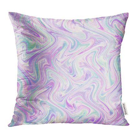 YWOTA Colorful Abstract Watercolor Marble Silk White Pink Lilac Purple Lavender Mint Green Pillow Cases Cushion Cover 16x16 inch (Lavender Pillow)