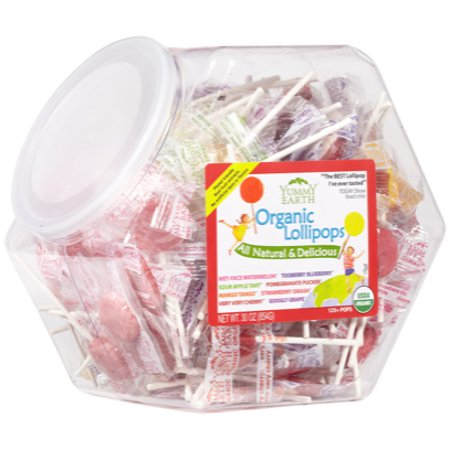 YumEarth Organic Fruit Pops 30 oz Bin (Bins Organic Lollipops)
