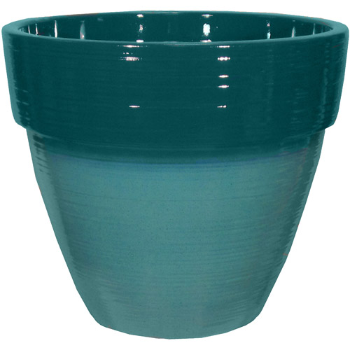 "Better Homes and Gardens Dubai 15"" Decorative Resin Planter, Lake/Teal"