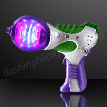 FlashingBlinkyLights Light Up Space Toy Gun With Spinning LEDs