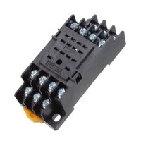 PYF14A 14Pin 35mm DIN Rail Mounted Power Relay Socket Base Holder for HH54P