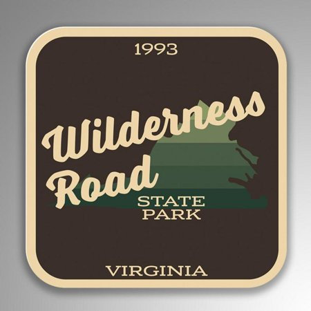 Wilderness Road State Park Decal Sticker | 4-Inches By 4-Inches | Vinyl Sticker | UV Protective Laminate | SP162 - Wilderness Road State Park Halloween