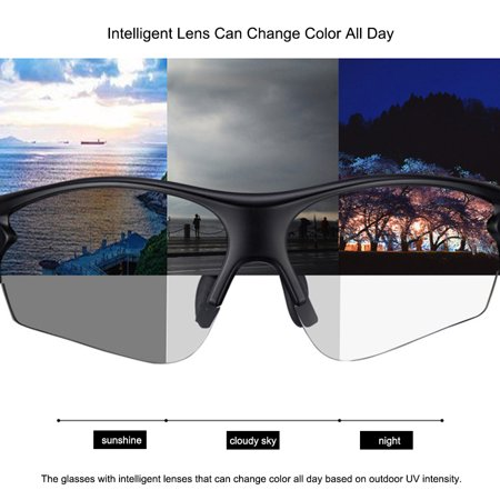 Outdoor Sports Color-changing Lenses Sunglasses Windproof UV Protection Hiking Driving Cycling Sun Glasses - image 3 of 7