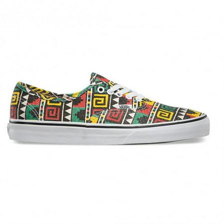 1cf11f3f5d9 Vans - Vans Authentic Geo Black Rasta Men s Classic Skate Shoes Size 8.5 -  Walmart.com