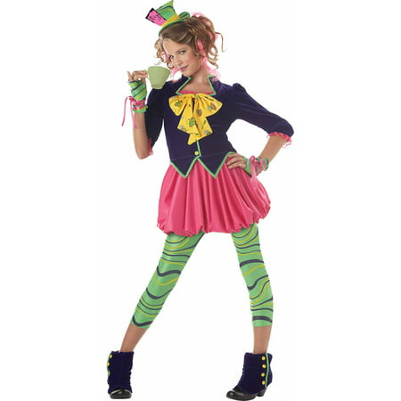 Tea Time Mad Hatter Costume (The Mad Hatter Teen Halloween)