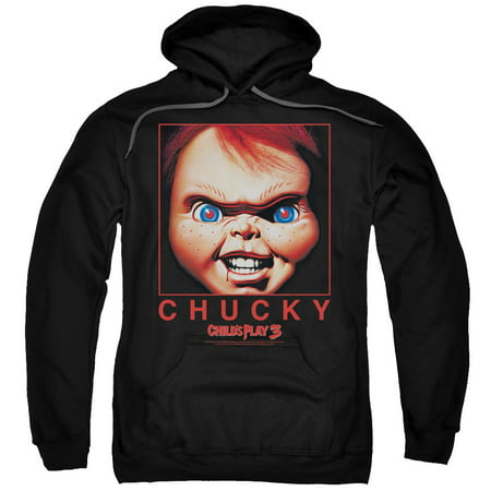 Child's Play 3 Horror Film Chucky Box Close Up Adult Pull-Over Hoodie - Chuckys Girlfriend