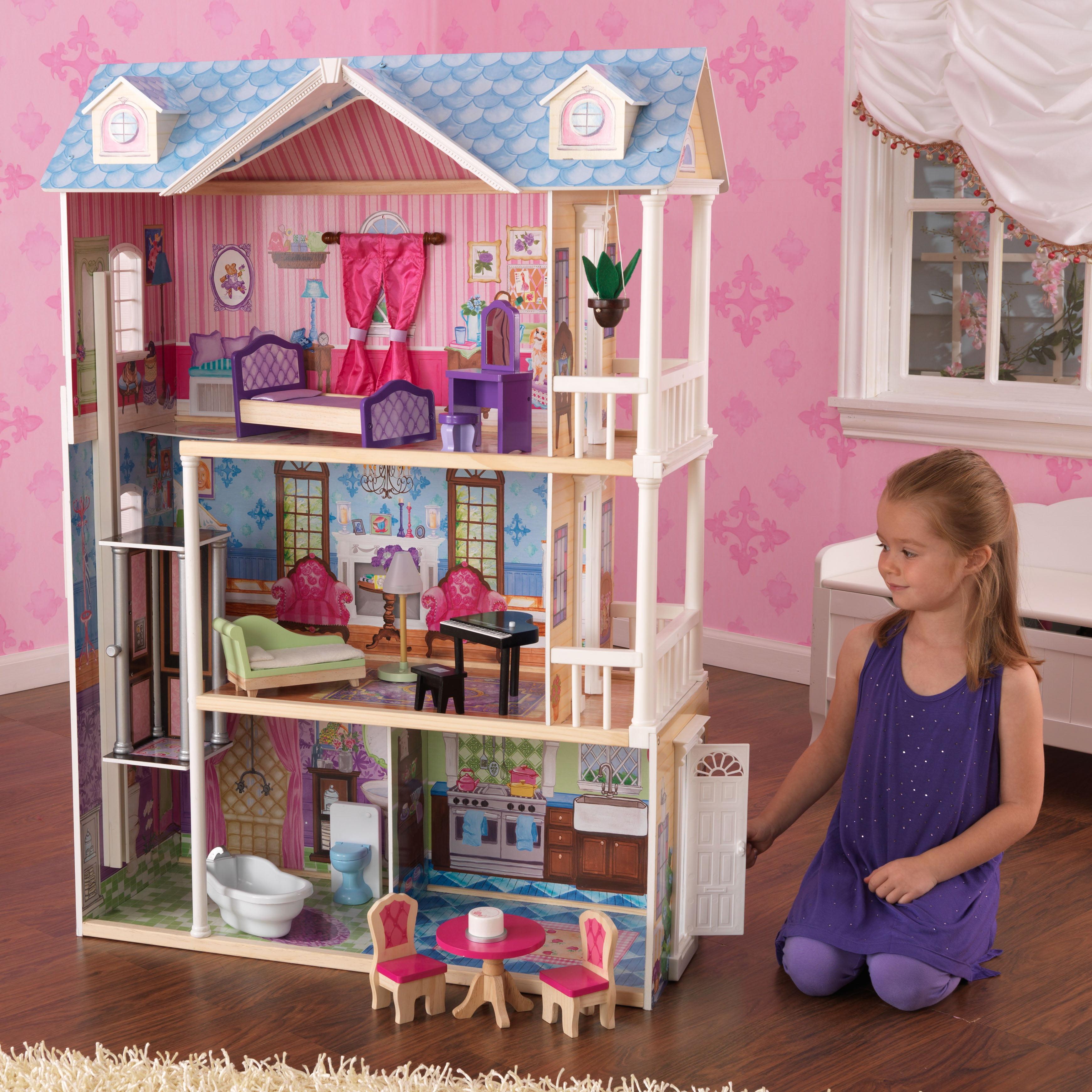 Kidkraft My Dreamy Dollhouse With 14 Accessories Included Walmart Com