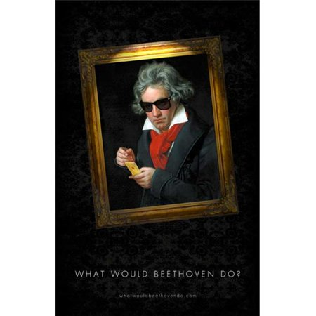 Pop Culture Graphics MOVEB58745 What Would Beethoven Do Movie Poster, 11 x 17 ()