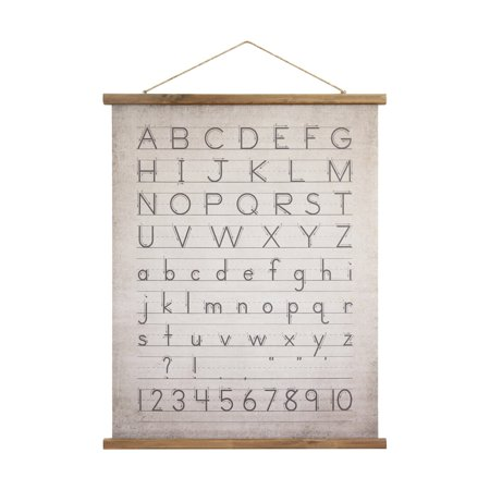 3R Studios Alphabet and Numbers Wall (Decorative Wall Scroll)