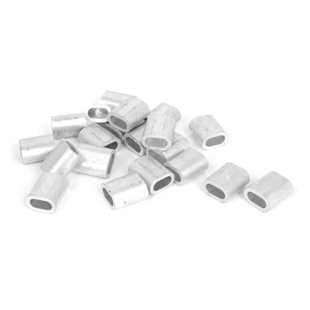 "1/4"" Wire Rope Aluminum Sleeves Clip Fittings Loop Sleeve Cable Crimps 20pcs"