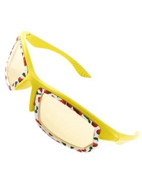 UV Protection Yellow White Full Rim Sunglassess for