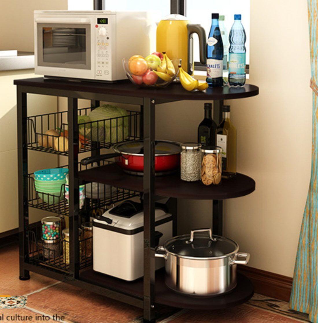 Magshion Kitchen Island Dining Baker Cabinet Basket ...