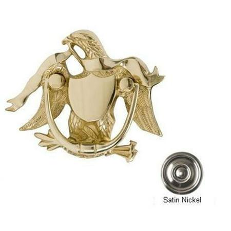BRASS Accents A04-K2000-619 Eagle Door Knocker 5-.87 in. Satin Nickel Pineapple Brass Door Knocker