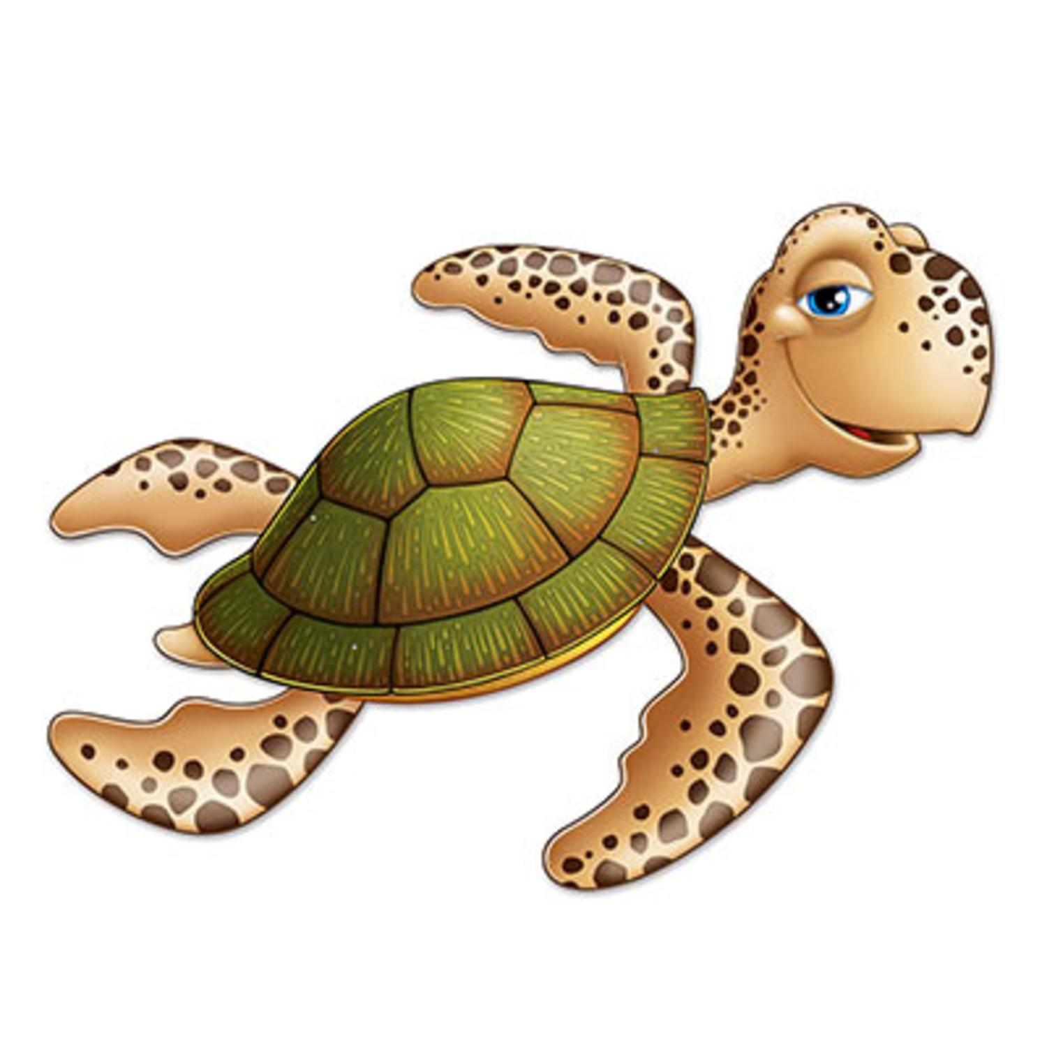 Club Pack of 12 Under The Sea Jointed Sea Turtle Figure Luau Party Hanging Decorations 3'