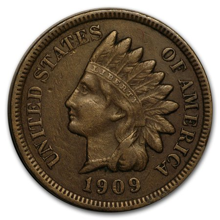 1909-S Indian Head Cent VF (5 Cent Coin With Indian Head And Buffalo)