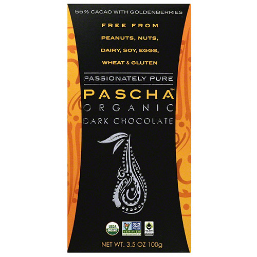 Pascha 55% Cacao with Goldenberries Organic Dark Chocolate, 3.5 oz (Pack of 10)