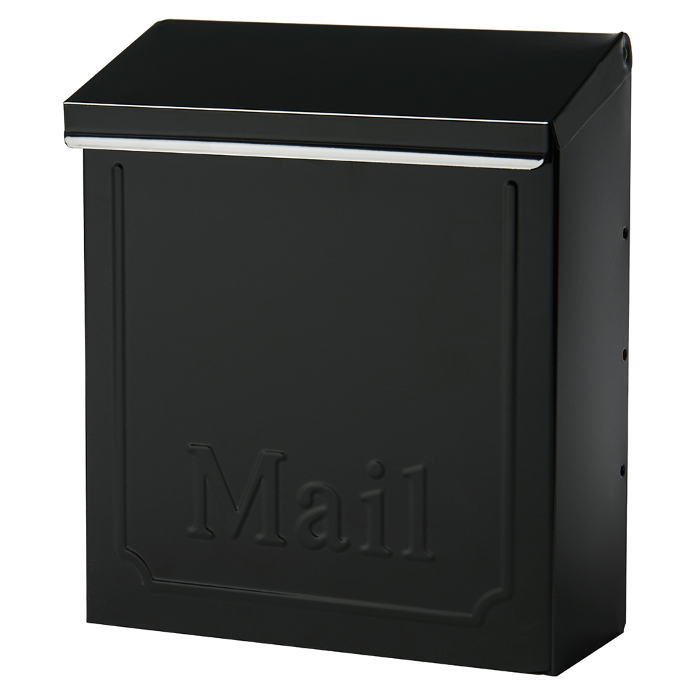 "Solar Group THVKB001 10.75"" Black Townhouse Wall Mount Mailbox by Solar Group"