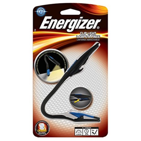 Energizer Clip Book Light for Reading, LED Reading Light for Books and Kindles, 25 Hour Run Time (Batteries