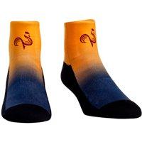 Paris Eternal Rock Em Socks Women's Dip Dye Quarter-Length Socks - Orange/Steel - S/M