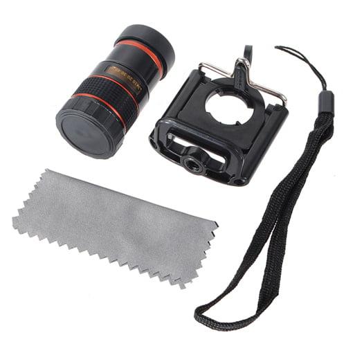 HD Ajustable Waterproof 8X Focus longfocallenstelescope Zoom Mini Monocular Cell Phone Telescope Camera