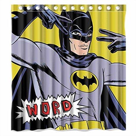DEYOU Batman Word Shower Curtain Polyester Fabric Bathroom Size 66x72 Inches