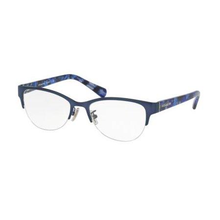 Coach Glasses Frames Blue : COACH Eyeglasses HC5078 9255 Satin Navy/Blue Black Mosaic ...