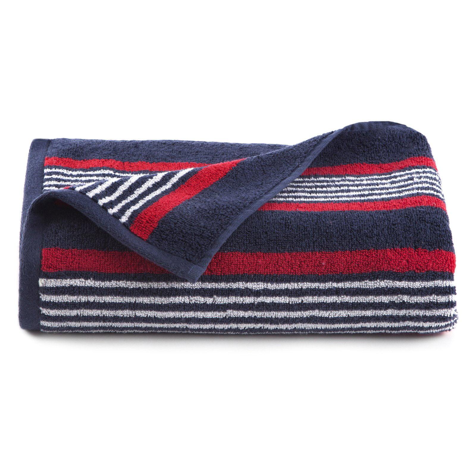 IZOD Racer Stripe Bath Towel Set Set of 2 by Overstock
