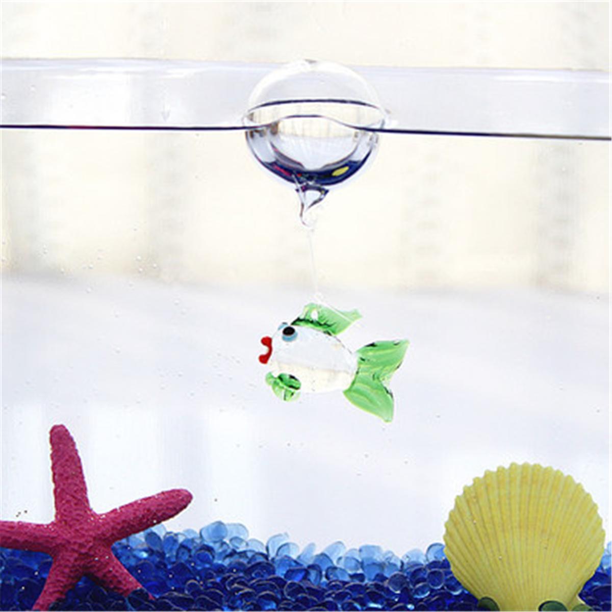 Moaere Aquarium Decorations,Colorful Floating Blown Glass Bubble Micro Fish Tank Landscape Ornament Deco Aquarium Fish Charms