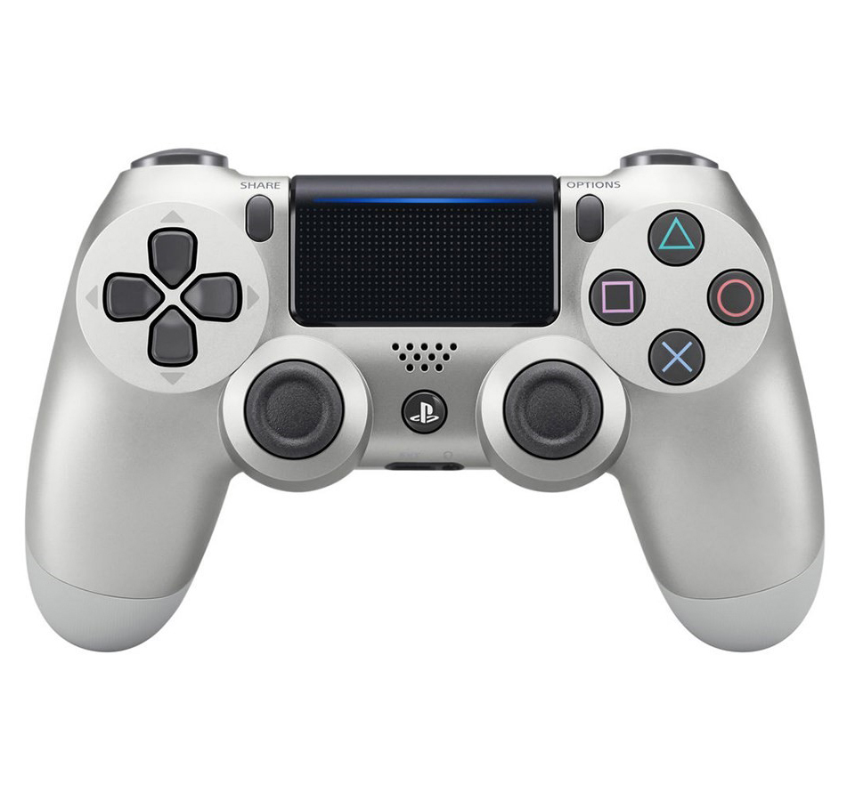Sony Playstation 4 DualShock 4 Controller, Silver, 711719504320