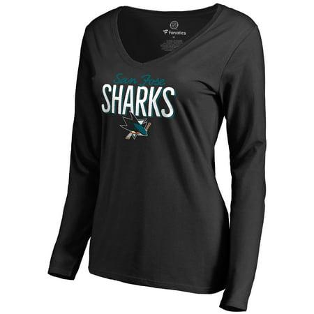 Inferno Halloween San Jose (San Jose Sharks Women's Nostalgia Long Sleeve T-Shirt -)