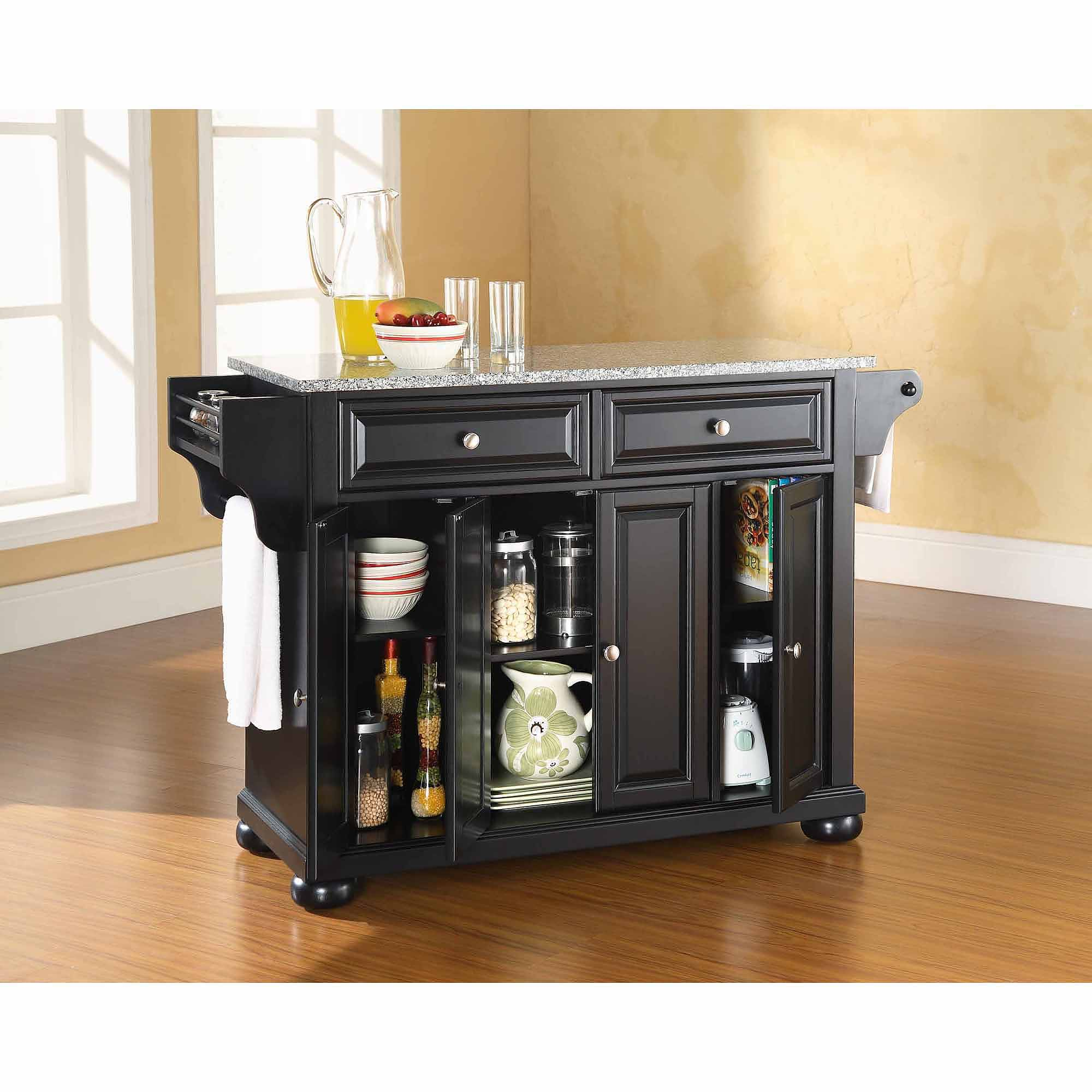 Granite Top Kitchen Crosley Furniture Alexandria Solid Granite Top Kitchen Island