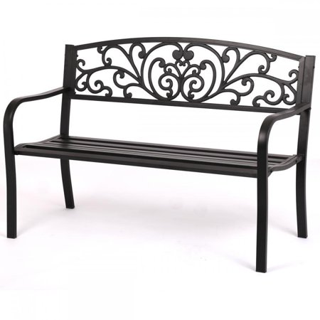 Aluminum Porch Frame - Patio Park Garden Bench Porch Path Chair Outdoor Deck Steel Frame