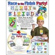 ScrapSMART Race to the Finish Party CD-ROM: Cars, Trucks, Planes, Motorcycle, Boat and More