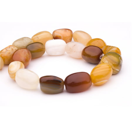 Mix Semi Precious Stone - Irregular Square Mix Agate Beads Semi Precious Gemstones Size: 20x14mm Crystal Energy Stone Healing Power for Jewelry Making