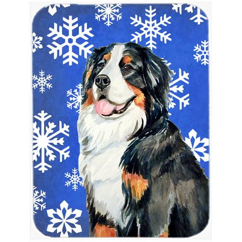 The Holiday Aisle Ashlynn Bernese Mountain Dog Glass Cutting Board
