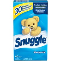 Snuggle Fabric Softener Dryer Sheets, Blue Sparkle, 40 Count