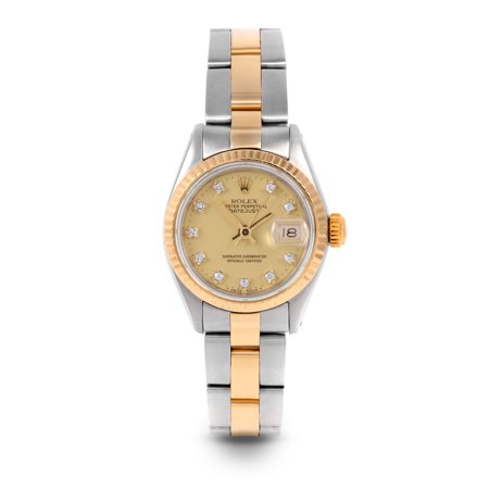 Pre Owned Rolex Datejust 6917 w/ Champagne Diamond Dial 26mm Ladies Watch (Certified & Warranty Included)