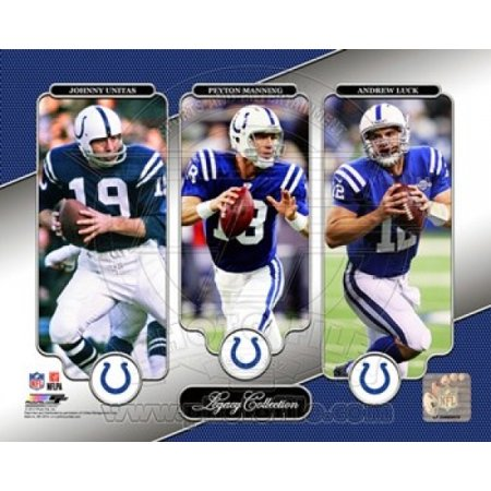 Johnny Unitas Peyton Manning & Andrew Luck Legacy Collection Sports Photo (Johnny Unitas Autographed Baltimore Colts)