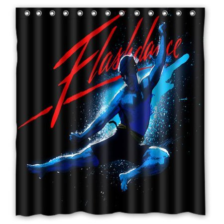 DEYOU Flash Dance Shower Curtain Polyester Fabric Bathroom Size 66x72 Inch