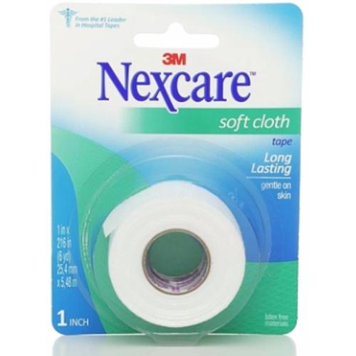 """Nexcare Soft Cloth Tape, 1"""" x 6 yds (Pack of 6)"""