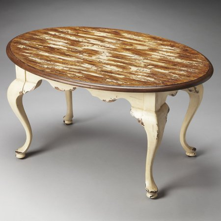 Butler Grace Farmhouse White Oval Coffee Table