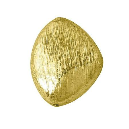BG-202 18K Gold Overlay Trapezoid Shape Brushed Bead