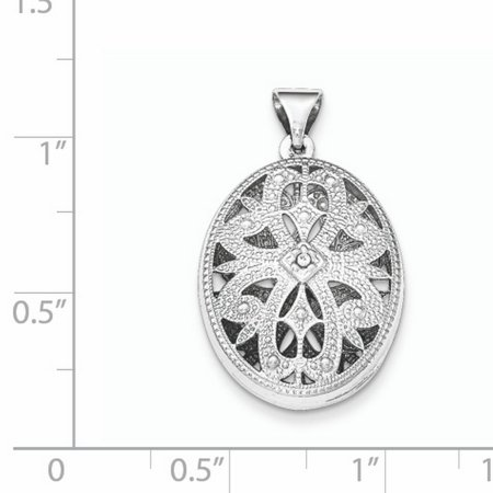 Sterling Silver Textured Oval CZ Pendant QP4684 (mm x mm) - image 1 of 2