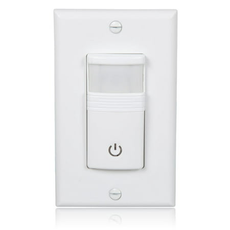 Maxxima Occupancy/Vacancy Motion Sensor PIR Wall Switch, Wall Plate Included