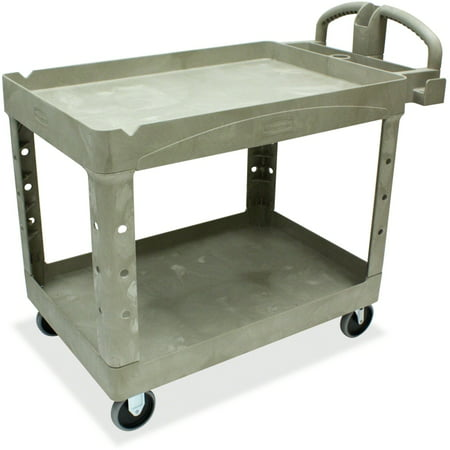 Rubbermaid Two Shelf Service Cart - 2 Shelf - 500 lb Capacity - 4 Casters - 5