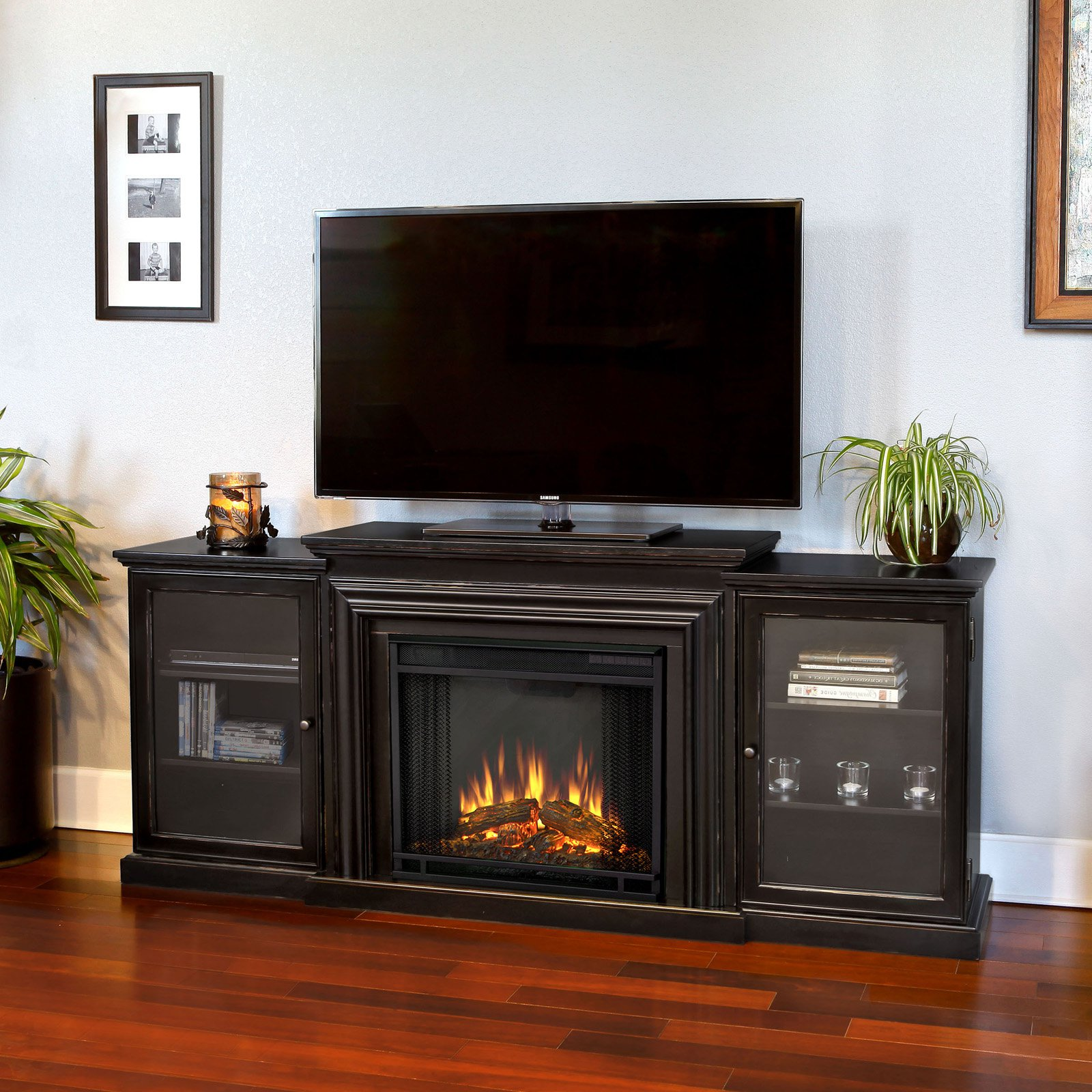 Free Shipping. Buy Real Flame Frederick Entertainment Center Electric Fireplace - Blackwash at Walmart.com