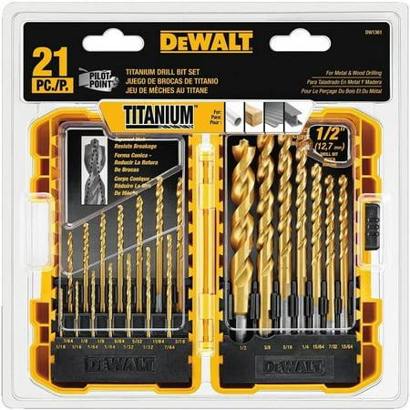 DEWALT DW1361 Titanium Pilot Point Drill Bit Set,
