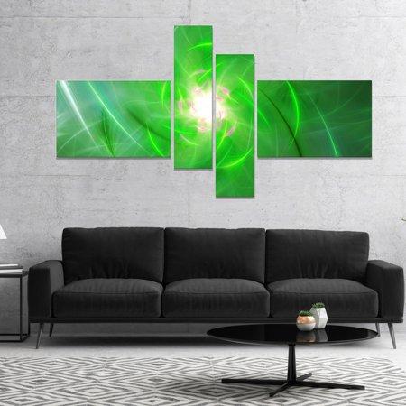DESIGN ART Designart \'Light Green Fractal Whirlpool\' Abstract Wall ...