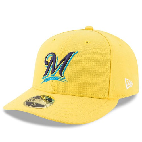 size 40 97525 c605b ... canada product image milwaukee brewers new era 2017 players weekend low  profile 59fifty fitted hat yellow